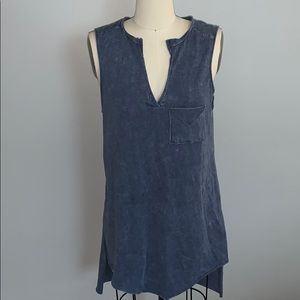 NWT!! PPLA Rustic Blue Long Tank!